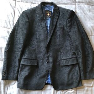 Other - Suede Black Paisley Blazer w/ Elbow Patches